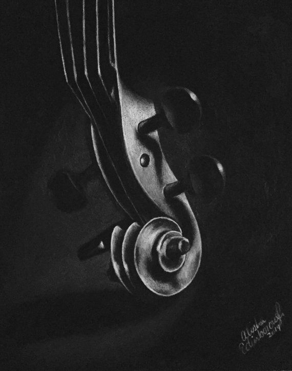 Charcoal on Black Pastel Paper
